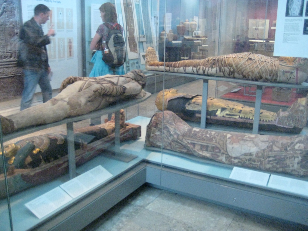 Just like Ahmanet, these mummies have suffered a cruel fate, too (their afterlife has been disrupted to be displayed in a museum)