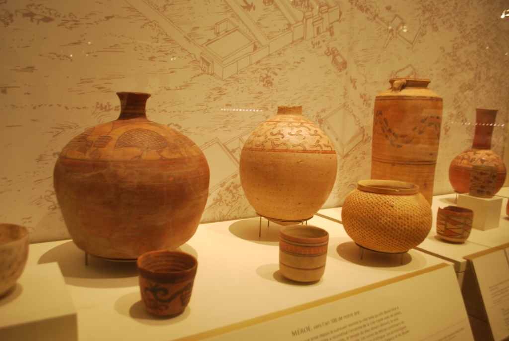Meroitic pottery currently on display at the Royal Ontario Museum