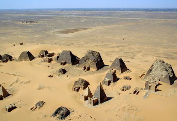 Reflecting Egyptian inspiration, these pyramids were adapted to local traditions