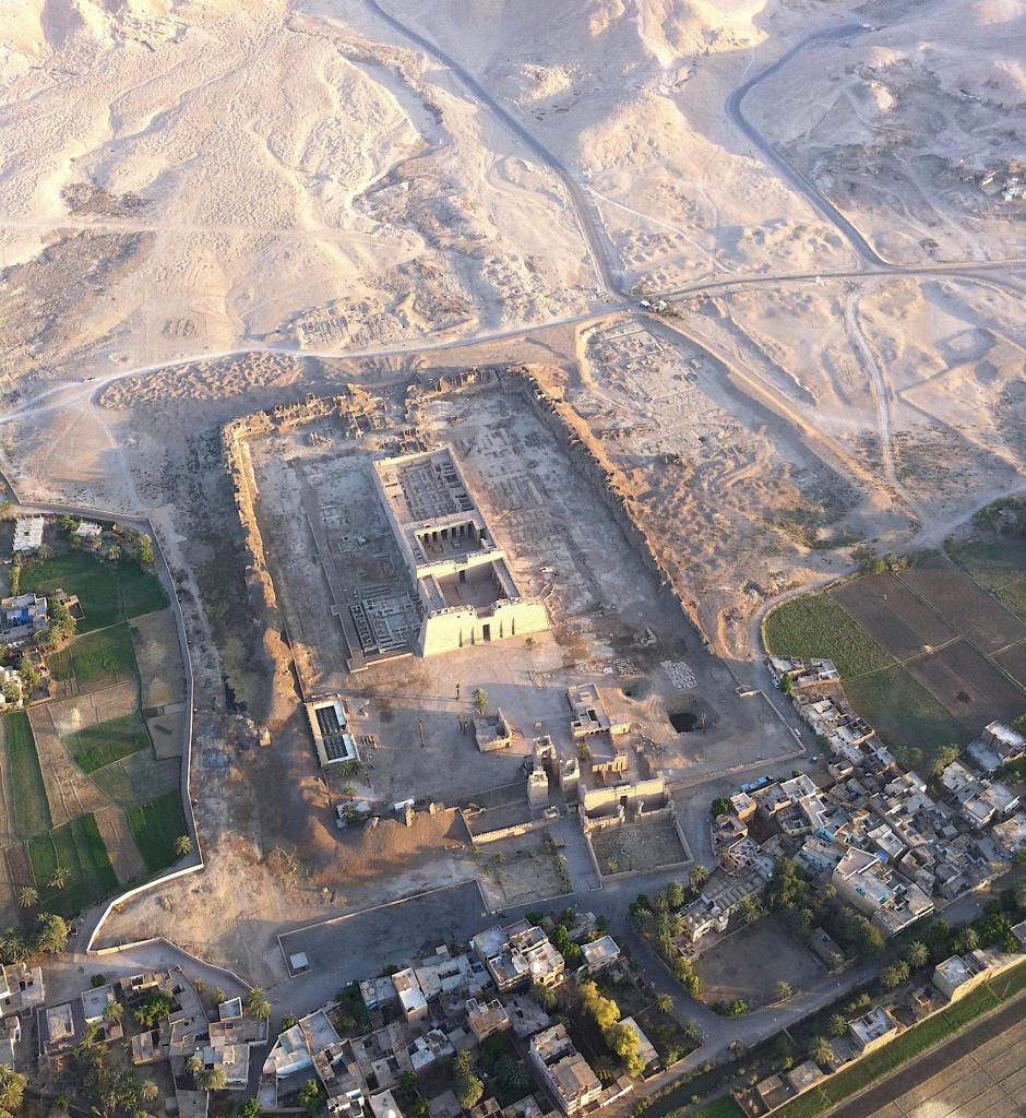 The Nile Mosaic's Egyptian Temple resembling Medinet Habu? (authors' photo)
