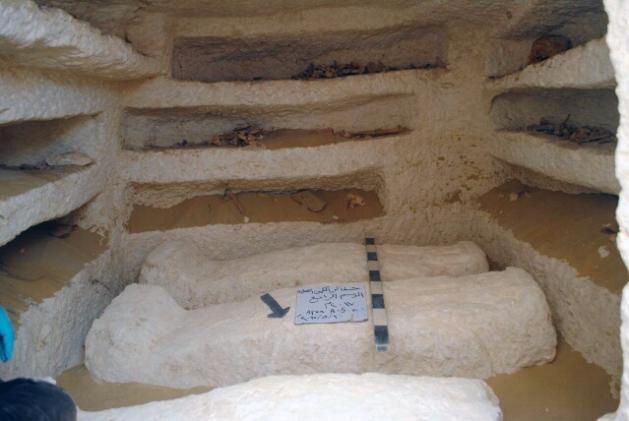 A Ptolemaic period tomb at El-Kamin El-Sahrawi (Photo: Nevine El-Aref)