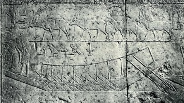 Scene of a boat from the tomb of Ti (1)