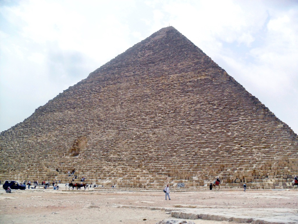 "Khufu's Great Pyramid at Giza is at the centre of a ""new"" discovery (authors' photo)"