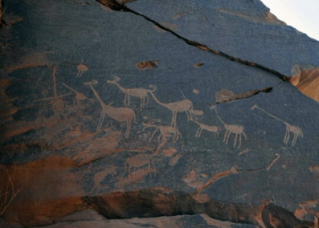 Wall markings dating to the Predynastic Period have been found near Aswan (Photo: Ahram Online)